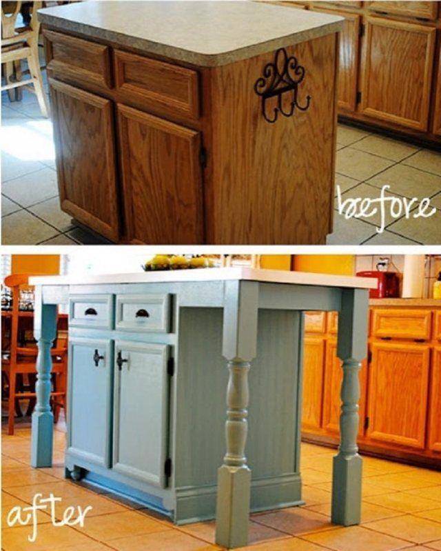 Fabriquer Ilot Cuisine Avant Apres Mobilier De Salon Relooking Meuble Relooker Meuble