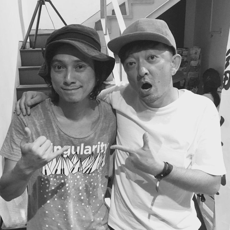 福山「JOKA FES」にてシュンスケ(Schroeder-Headz)と久しぶりに会った☆ またね!  @JOKAFES  @schroederheadz
