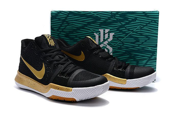 35042f0d56e New Arrival Cheap Kyrie Irving Shoes 3 2017 Championg Ship Gold Black
