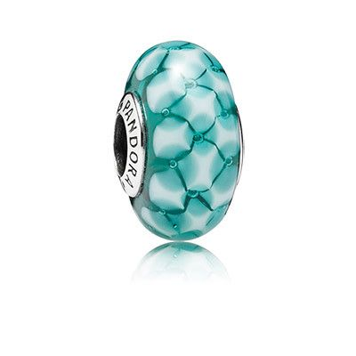 Teal lattice. Makes me think of ripples in the water. This charm is stunning! Will definitely by on my Summer #Pandora bracelet.  #myperfectPANDORAsummer @officialpandora