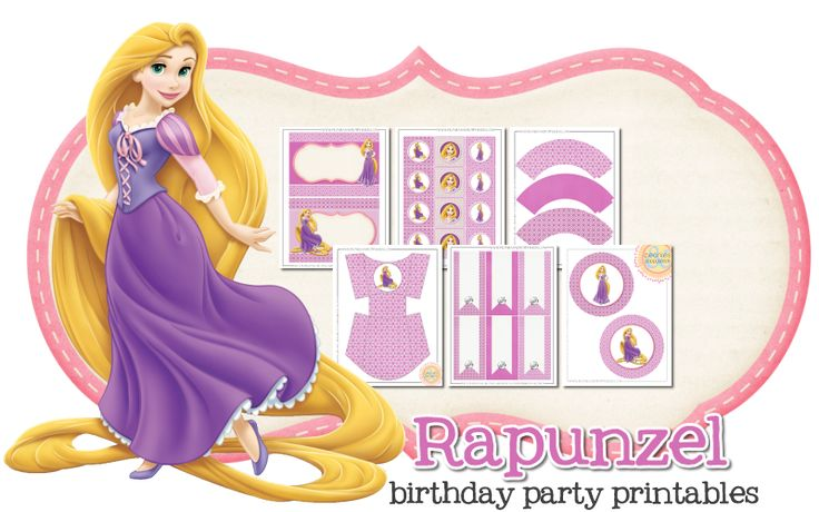 Rapunzel Birthday Freebies | Peonies and Poppyseeds