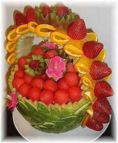 Wow! Watermelon flower basket