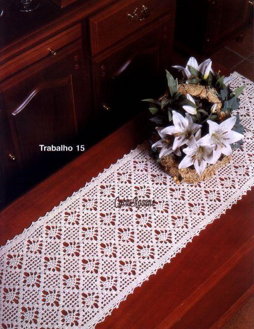 Caminos de mesa, almohadones, tapetes / Revista Crochet ~ Patrones para Crochet