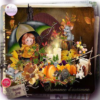 **NEW** Romance D'Automne by Josy Créations  Available @ http://www.paradisescrap.com/fr/112_josy-creations
