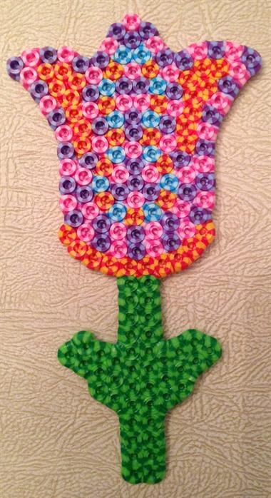 Tulip made out perler striped beads by John H. - Perler® | Gallery