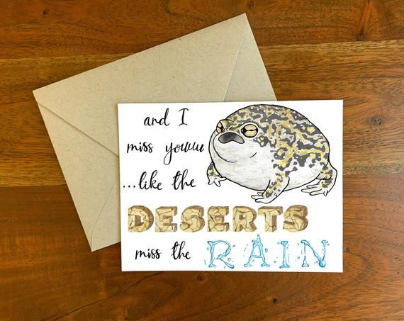 And I Miss You Like The Deserts Miss The Rain Greeting Card Hand
