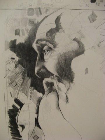 L'uomo barbuto -matita-