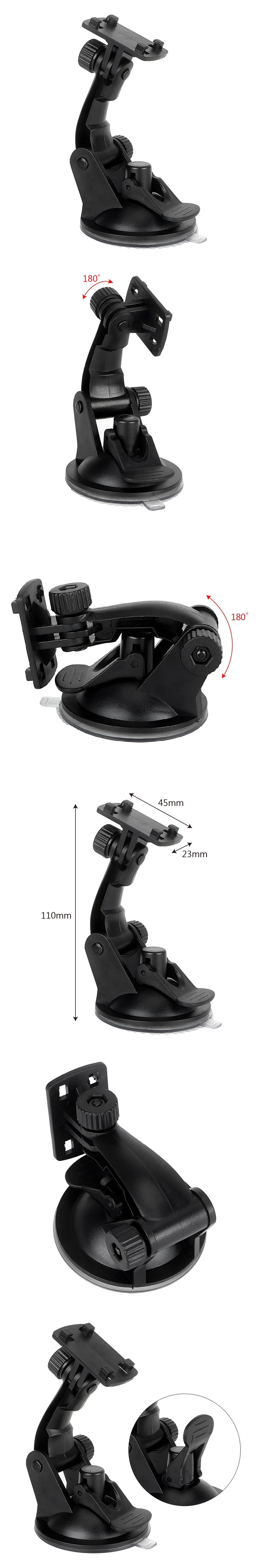 Universal Phone Holder Windshield Bracket 360 Degrees Steering Portable For Car GPS Recorder DVR Camera Auto Mounts