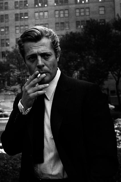 Marcello Mastroianni, New York, 1962 by Steve Schapiro