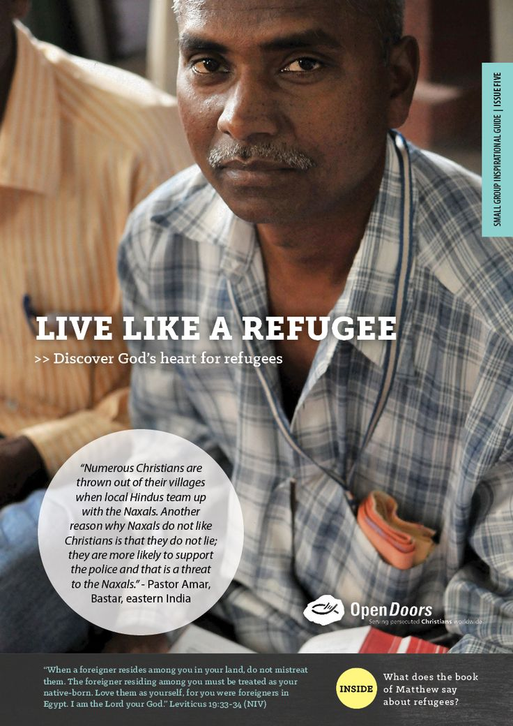 Small Group Inspirational Guide - Live like a refugee, Issue 5