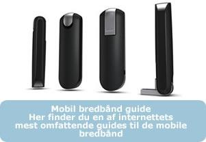 Grundig og informativ guide til Dansk mobil bredbånd og internet generelt.  Er du på udgik efter en ny internetforbindelse, kan du finde svar på stort set alle spøtgsmål og bredbånd i denne guide.  Priser, hastigheder og dækning samt vilkår og dataforbrug sammenlignes i den store guide.