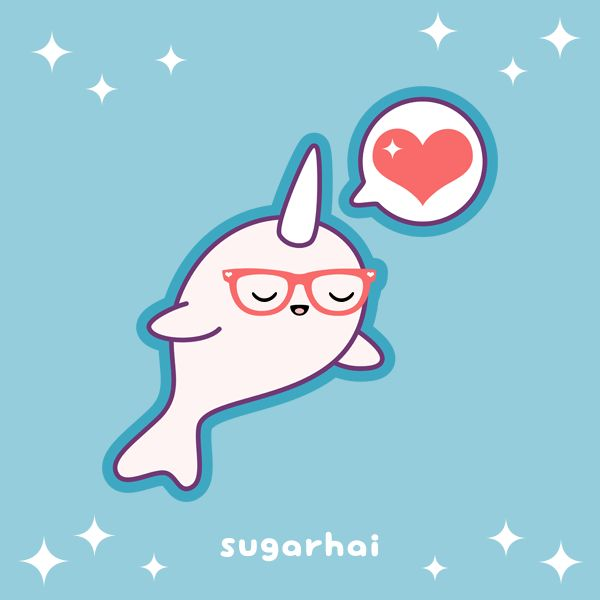 86 best cute sea images on pinterest kawaii narwhals - Cute narwhal wallpaper ...