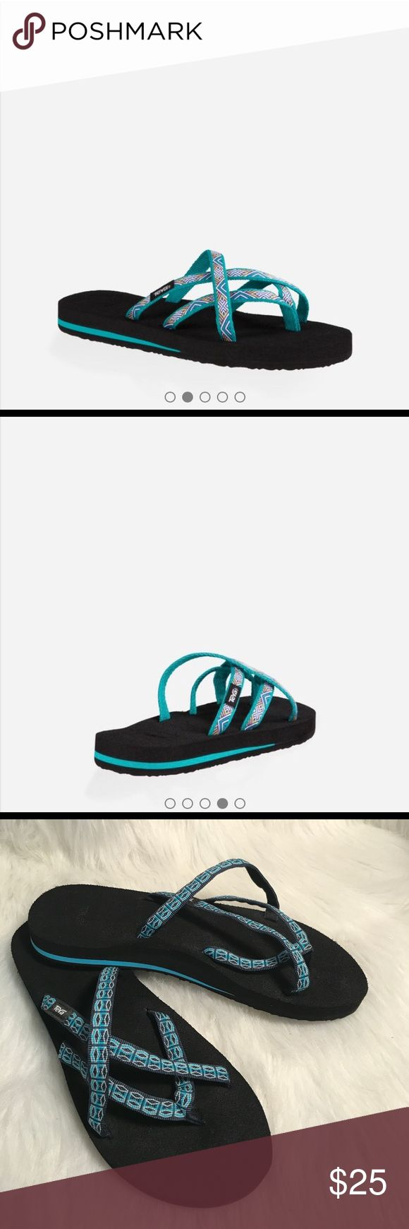 TEVA OLOWAHU WOMEN'S FLIP FLOPS Cute and comfy! Excellent pre-owned condition. The perfect staple to complete a cozy outfit! Color: Isla tropical teal/ Size: 9/ model #6840/ 017222299 Teva Shoes Sandals