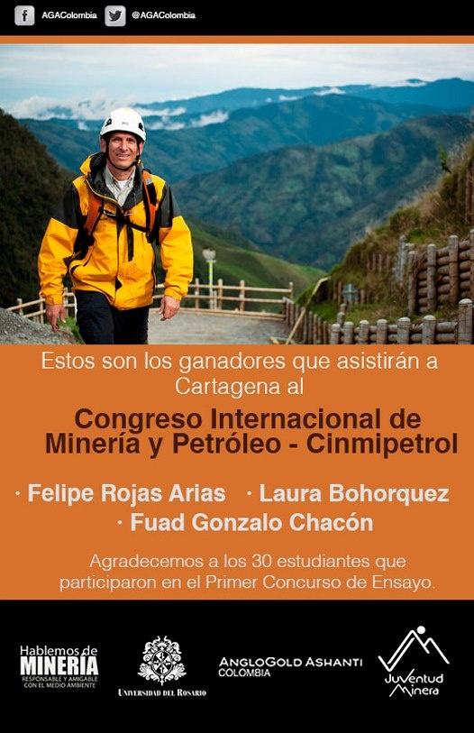 Felicitamos a los ganadores del primer concurso de ensayo: Fuad Gonzalo Chacón, Laura Bohorquez y Felipe Rojas Arias; y muchas gracias a los demás participantes.