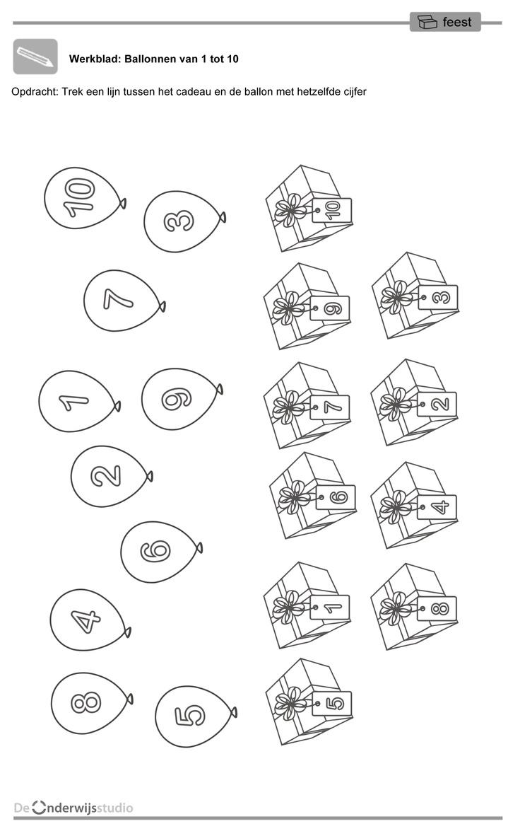 Het dierenwinkeltje- Werkblad - Ballonnen
