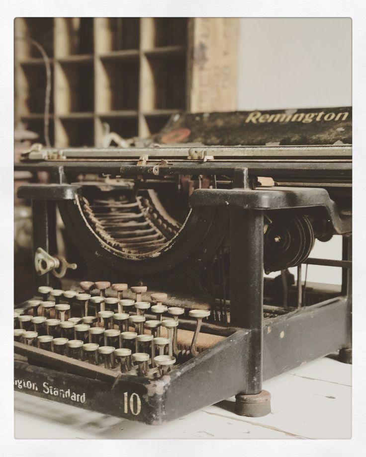 Old typewriter