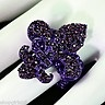 NEW! FLEUR DE LIS/ LSU STRETCH RING WOULD LOOK GREAT WITH YOUR OUTFIT. REALLY CUTE!!  GEAUX TIGERS!!!    RYAN EADES #37 LSU BASEBALL!!!!