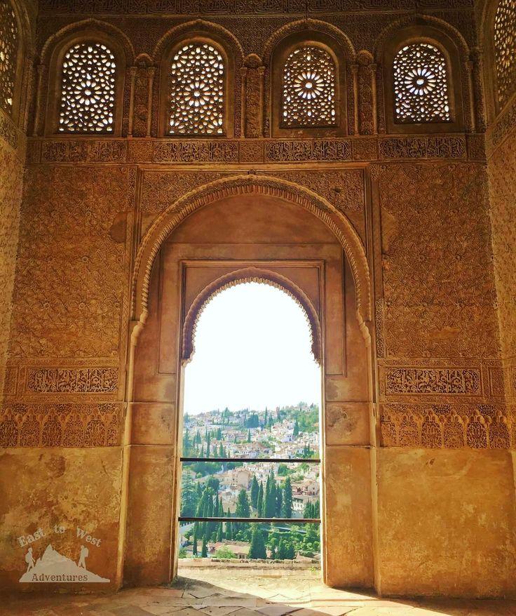 The door to Granada.  #opening #door #archway #windows #alhambra #spain #Granada #architecture #history #smalldetails #مغامرات_من_الشرق__الى_الغرب #اسبانيا #الاندلس #قصر_الحمراء #غرناطة