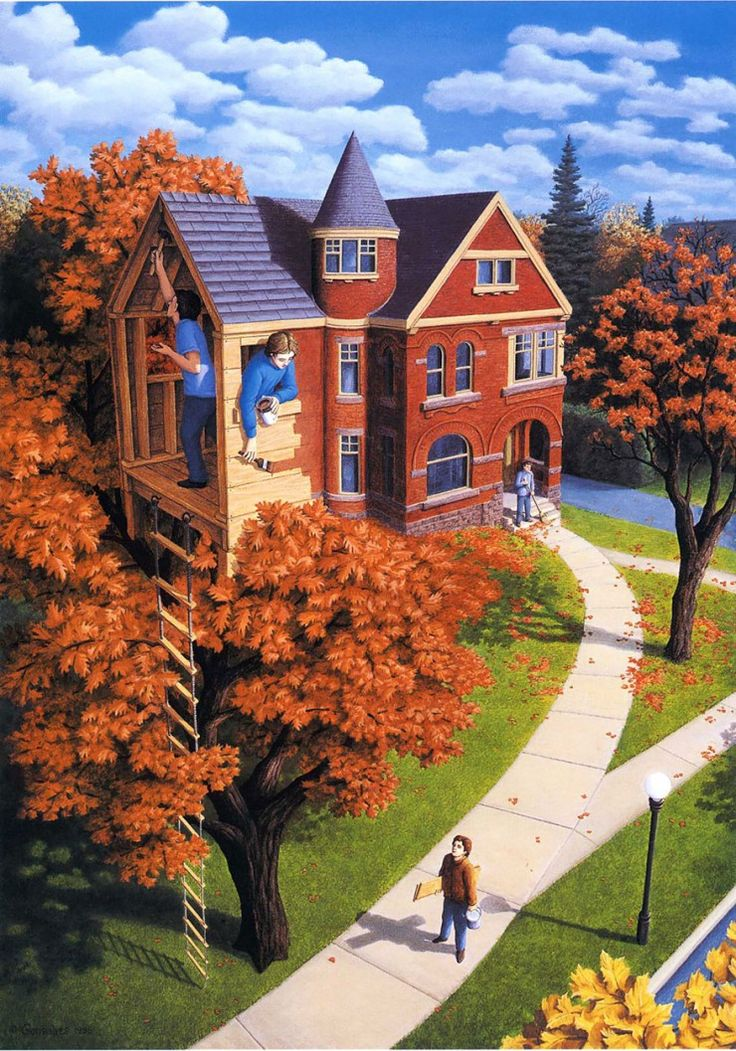 Amazing Optical Illusion Paintings By Rob Gonsalves http://designwrld.com/optical-illusion-paintings-by-rob-gonsalves/