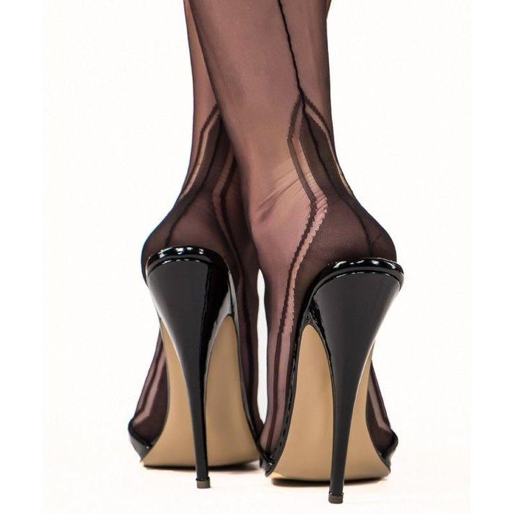 Gio Manhattan Heel Seamed Stockings 100% Non Stretch Nylon 1950 retro PERFECTS #GIO #Stockings #Glamour