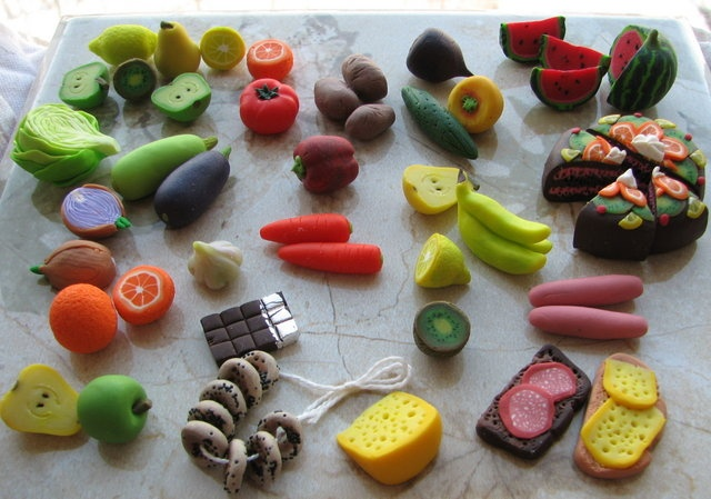 Polymer clay foods