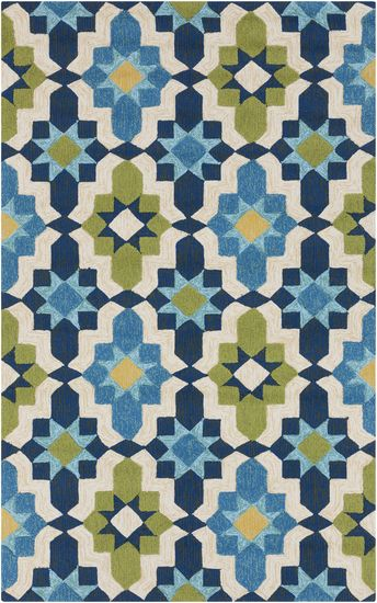 Perfect for the patio! Polypropylene rug with fun pattern. Available in 2 colors. From the Storm Collection by Surya (SOM-7740)
