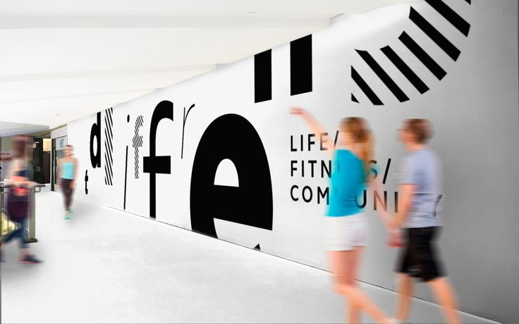 Concept of branding for fitness club. Design and art direction for GSG Creative Agency