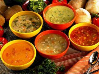 Худеем низкокалорийные супы, салаты