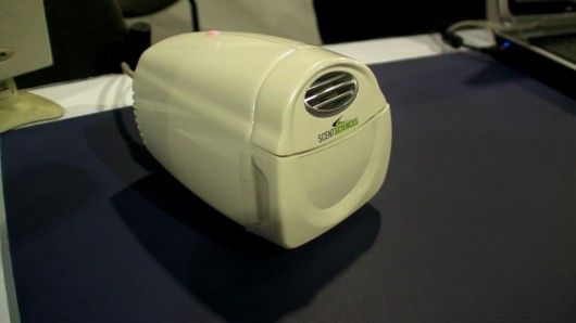 The ScentScape unit that plugs into a PC via USB to produce smells tailored for games and ...