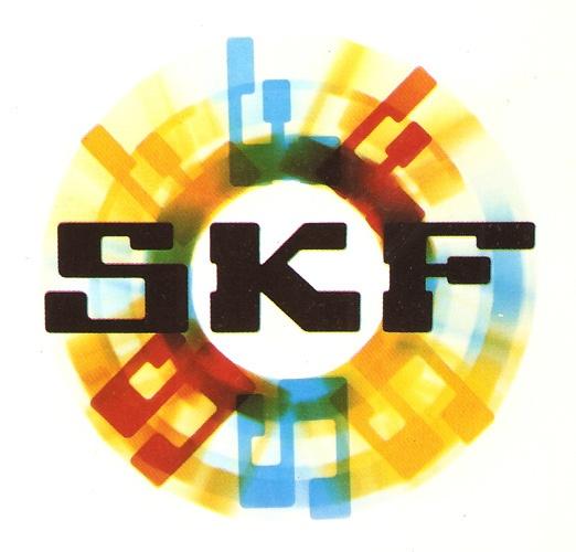 "Vintage Logos SPINNING SKF LOGO, 1968 by ATVFOTO Logo from ""Industria"" magazine (Swedish)"