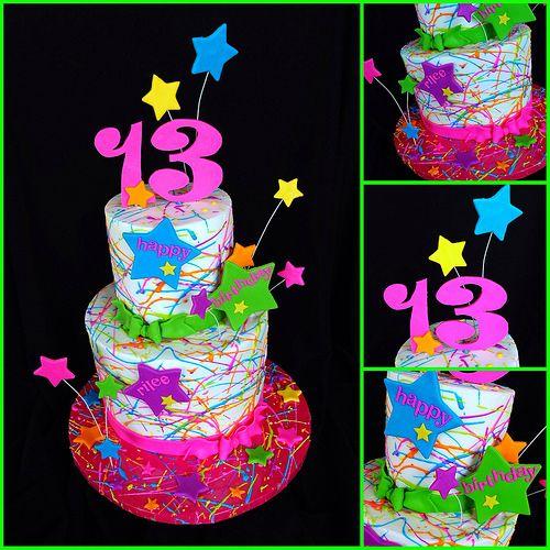 Paint Splatter Cake | Flickr - Photo Sharing!