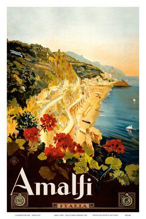 Amalfi Italia - Campania, Italy Art Print at AllPosters.com