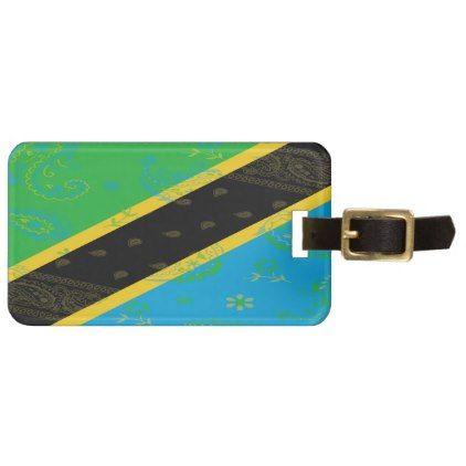 #Tanzania Flag Luggage Tag - #travel #accessories