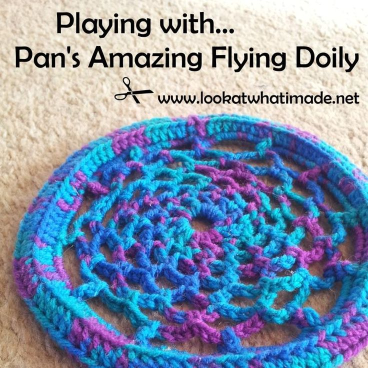 """I made one of these for my kids and they are so fun! :) """"Pan Perkins Amazing Flying Doily Frisbee"""""""