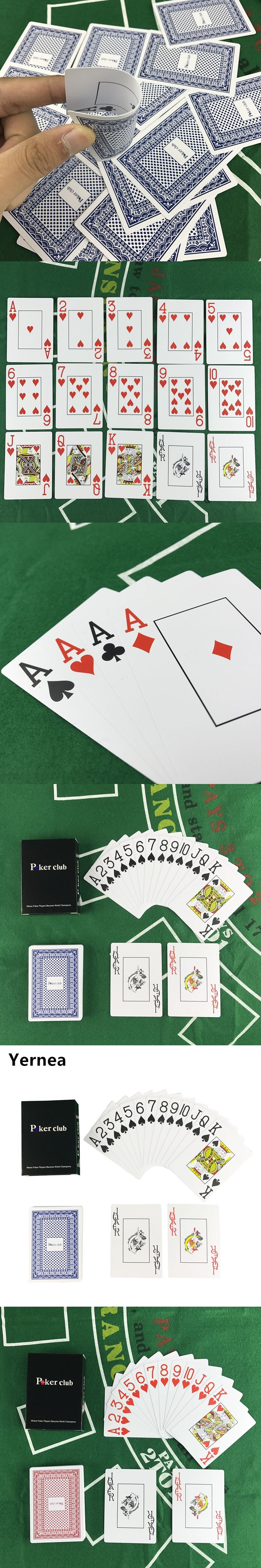 Hot new Smooth Waterproof 1 Sets / Lot Poker Baccarat Texas Entertainment Plastic PVC Card game Poker Club 63 * 88 mm