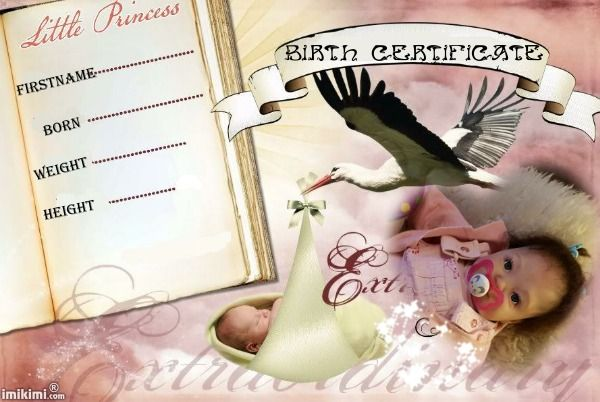birth certificate sara