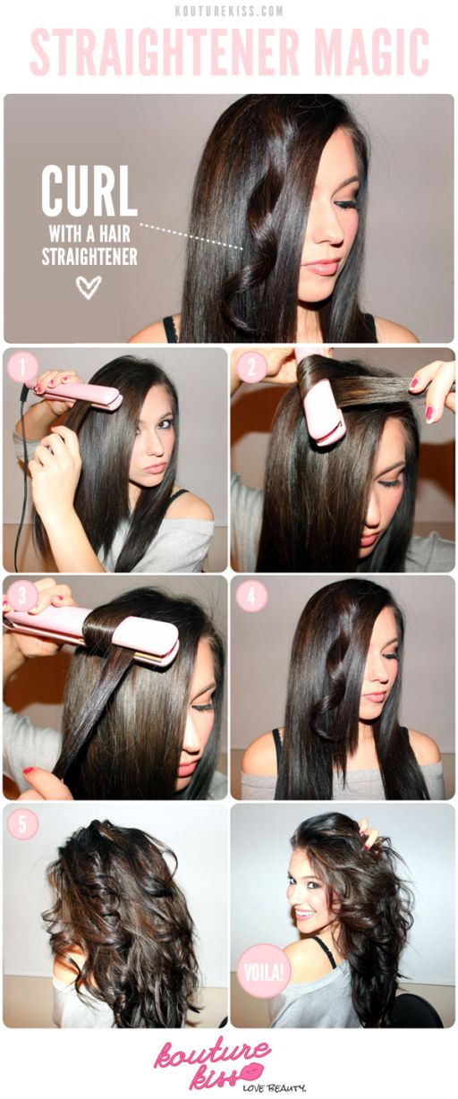 1 512x1228 how to curl your hair with a straightener step by step DIY tutorial instructions