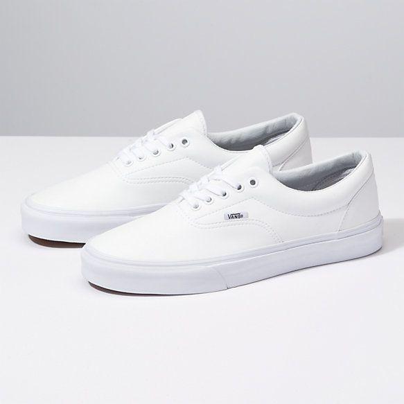 Classic Tumble Era | Shop Shoes | White leather vans ...