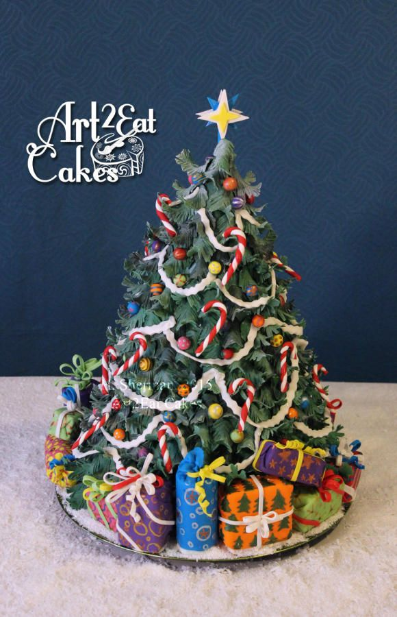 3D Realistic Christmas Tree v2 by Heather -Art2Eat Cakes- Sherman