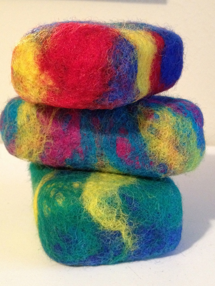 Felted soaps...easy, fun and fast wet felting project!