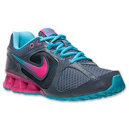 Women's Nike Reax Run 8 Running Shoes| FinishLine.com | Armory Slate/Pink Foil-Gumball