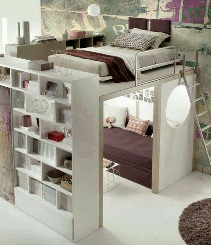 If I have a place with a tall ceiling- this would be awesome to do with a walk-in closet under the bed