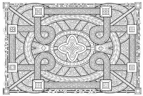 geometric coloring pages advanced nature - photo#40