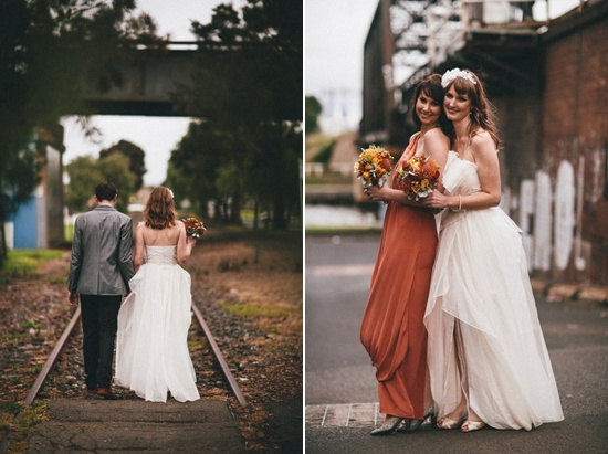 Leila and Matts Footscray Autumn Wedding - with a fantastic hair piece from SoBridelicious