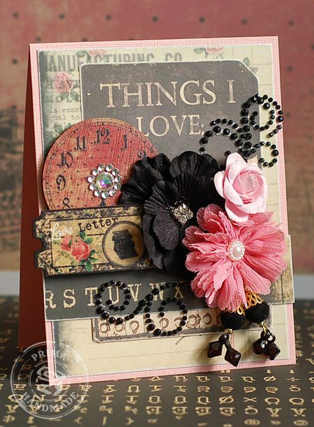 Card by Lea Lawson using Romance Novel by Prima