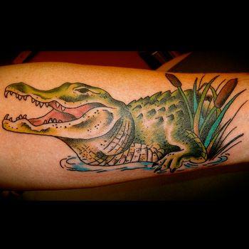 Alligator Tattoo Meanings | iTattooDesigns.com                                                                                                                                                     More