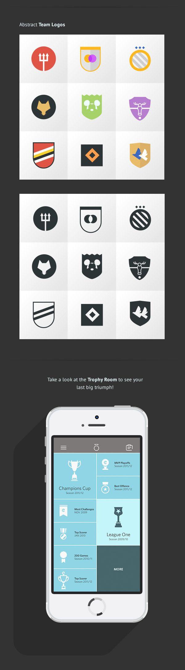eKickr Mobile App [badges] by Lukas Bischoff, via Behance