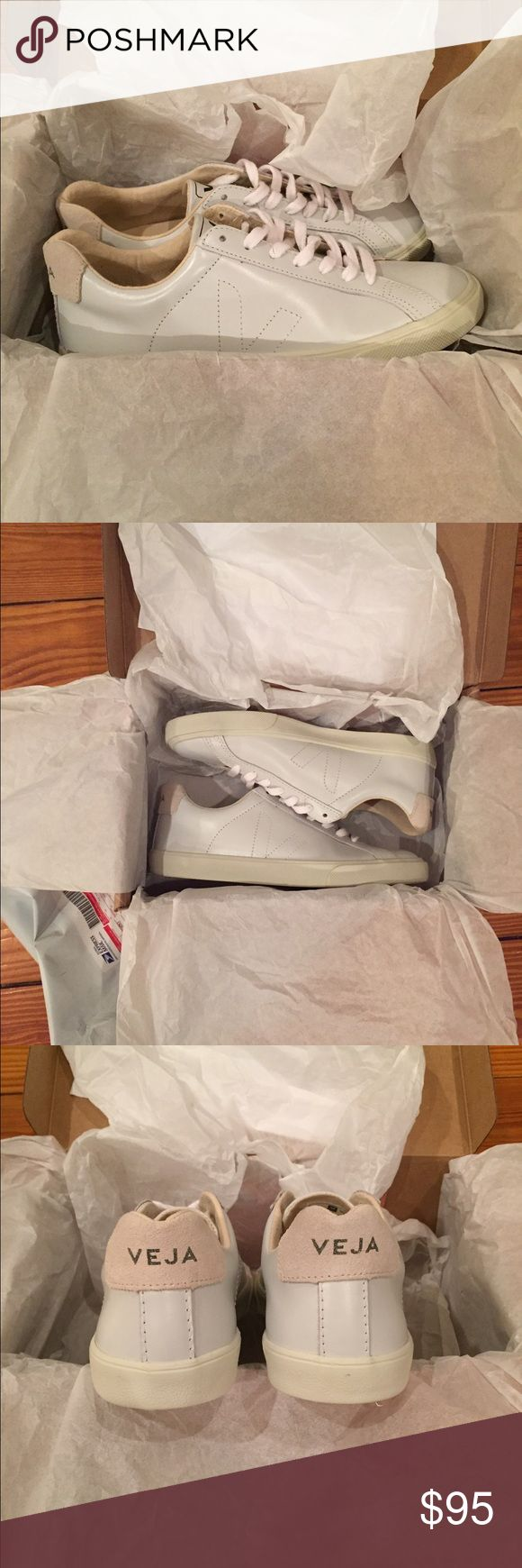 Veja Esplar Leather Extra White Sneaker - 7 Veja Esplar Leather Extra White Sneaker - 7 These are brand new and never worn. They are a size 37/US 7. They are too large for me and the shipping back to France is too expensive! Veja Shoes Sneakers