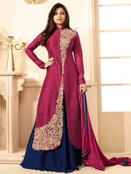 Pink Georgette Suit with Embroidery Work
