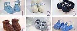 6 patrones gratis para hacer patucos de bebé
